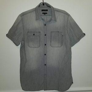 Men's Banana Republic Grey Button Down Shirt